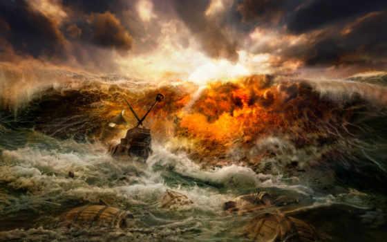 ,, волна, ураган, небо, рок, море, буря, ветровая волна, облако,