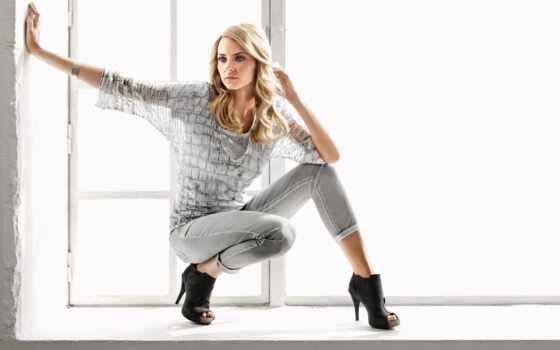 stylish, amber, услышать, туфли, одежда, blonde, серый, джинсы, брюки, color