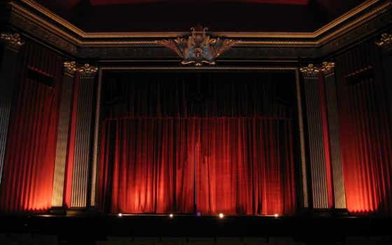 curtain, театр, картинка