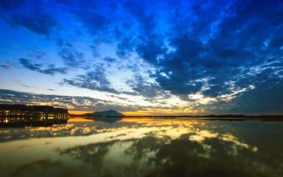 tapety, озеро, water, landscape, природа, telefon, отражение, ipad,