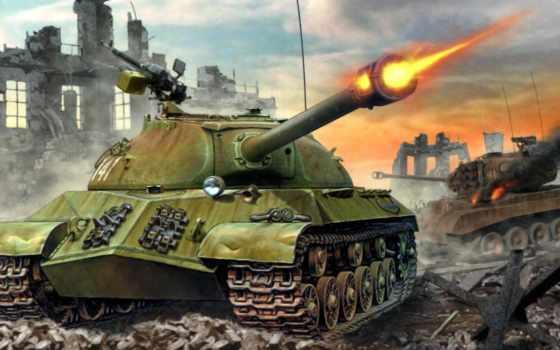 танк, wot, ис-3, развалины