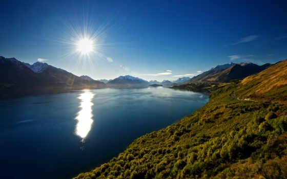 горы, zealand, новая Фон № 89121 разрешение 2560x1440
