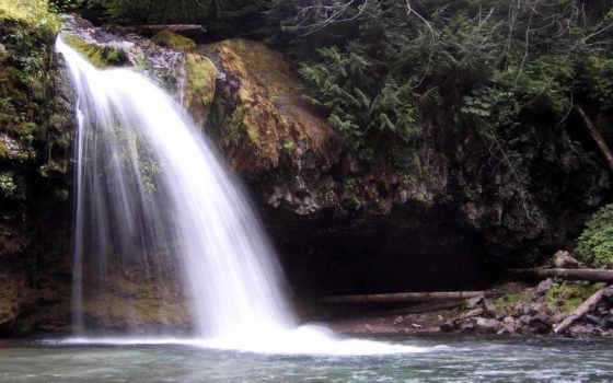 водопад, small, водопады, без, природа,