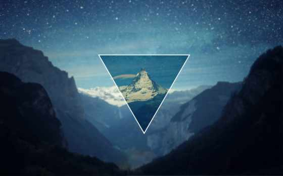 fondos, pantalla, треугольник, hipster, polyscape, fond, ecran, triangles,