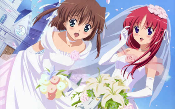 wedding, anime, dress, sharing, asakura, nemu, kotori, shirakawa, minecraft,