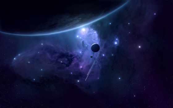 планеты, космос, galaxy, галактике, неизведанной, кликните, stars, картинка,