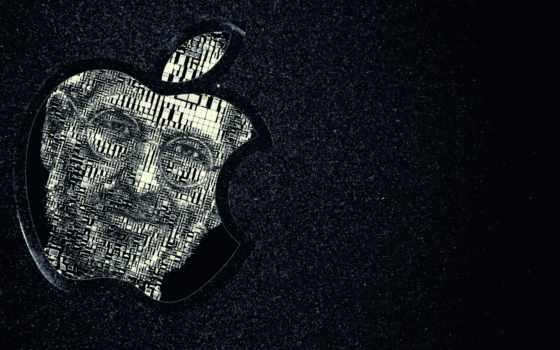 steve, jobs, apple, iphone, mac, logo, grey, black