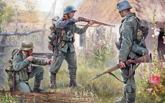 немецкая, пехота, звезда