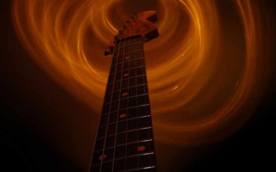 гитара, flaming, гриф