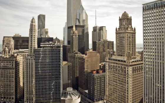chicago, город, usa