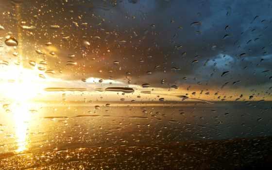 дождь, взгляд, капли