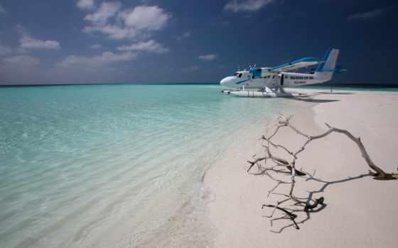 maldives, самолёт, пляж, остров, ocean, песок, море, browse, taxi,