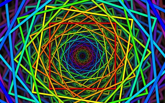 красивые, абстрактные, spiral, square, line, color,