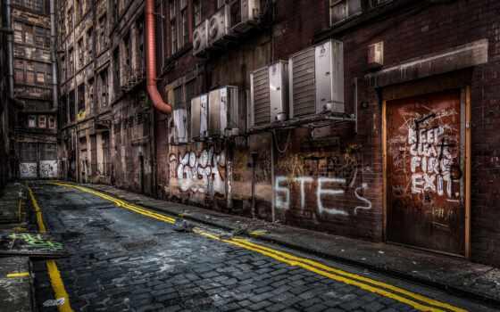 город, glasgow, улица, drawing