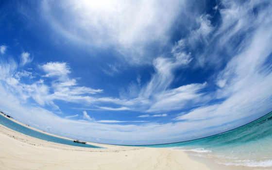 небо, море, панорама