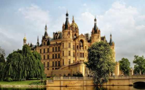 германия, замок, взгляд