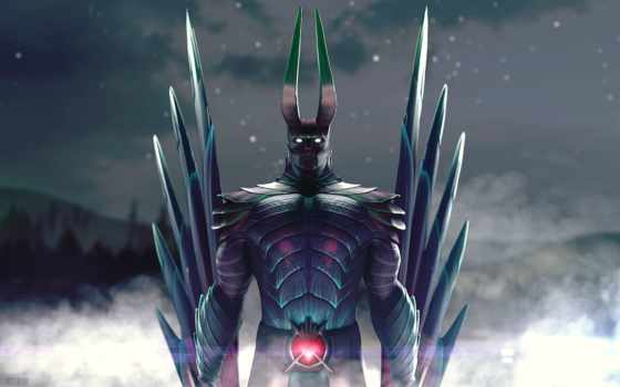 terrorblade, dota, arcana, mix, youtube, horns, fractal, inner, abysm, зелёный, свет,