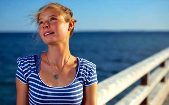 море, девушка, волосы, ветер, фильтры, blonde, striped, страница, мокрая, tzr, дек,