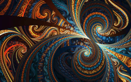 fractal, colorful, design