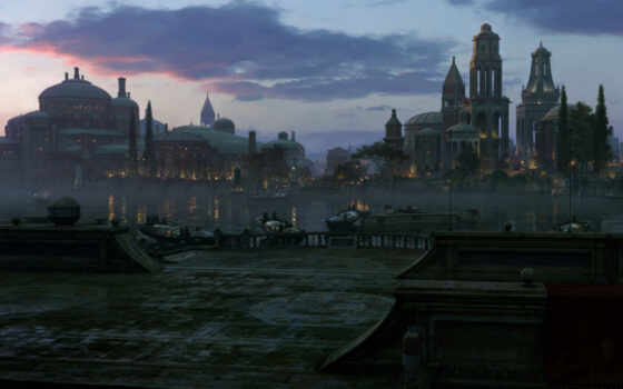 город, art, fantasy, denigmo, load, fentezti, старинный, фото, digital, landscape