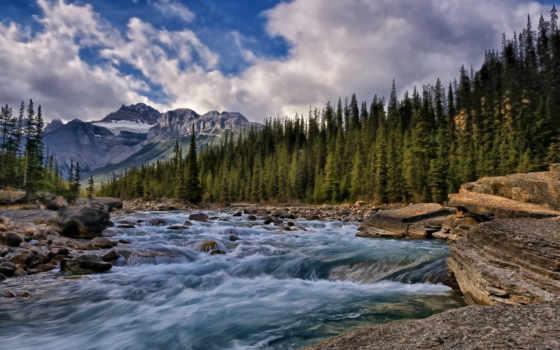 канада, река, природой