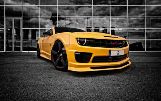 chevrolet, camaro, yellow