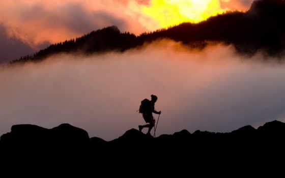 картинок, туман, bloom, tourist, many, высоте, tourism, горы, экстримальный,