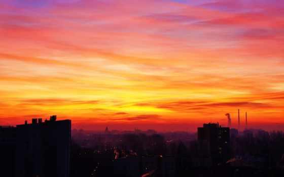 небо, оранжевый, views, закат, topsy, one, orangesky, total,