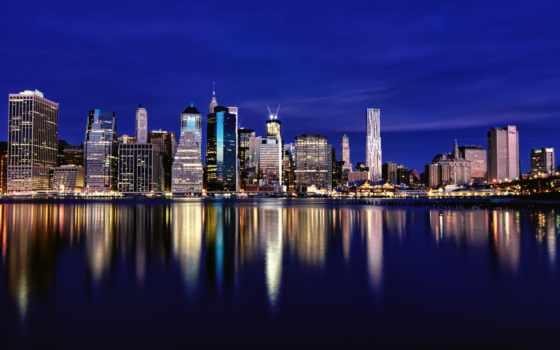 нью, york, небоскребы, new, мегаполис, здания, город,