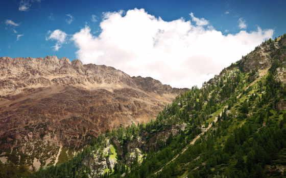 природа, kahverengi, duvar, berg, dağları, kağıtları, manzarası, природы, een, fond,