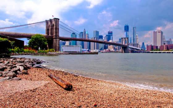 бруклин, мост, new, пейзажи -, için, york, bileti, uçak, американських, мегаполисов,