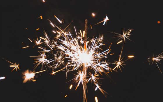 фон, iphone, sparkler, праздник, салюты, бенгальский, sparks, dark, искры, огонь,