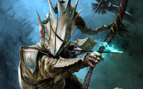 доспех, арка, fantasy, воин, archer, armour, бант, mouse