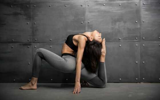 девушка, sporty, спорт, фитнес, workout, поза, стена, brunette, молодой