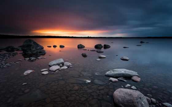 восход, закат, sweden, природа, karlstad, фото, включить, показать, landscape, ночь, ток