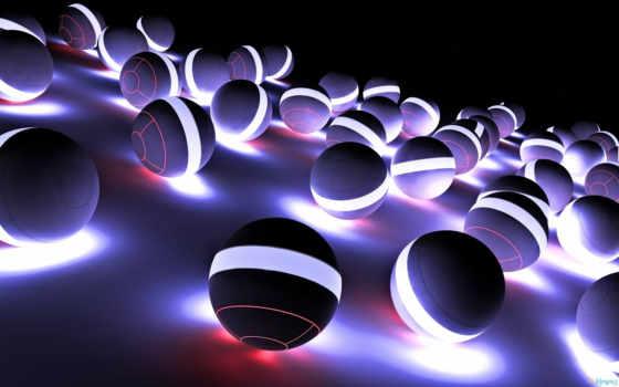 картинка, abstract, вид, view, spheres, neon, site,