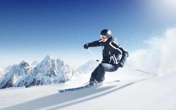 спорт, лыжи, снег