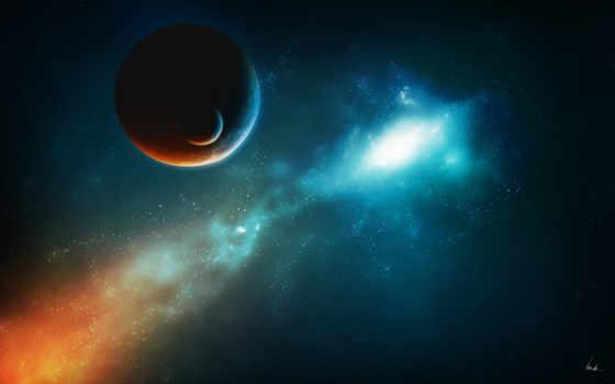 universum, desktop, hintergrund