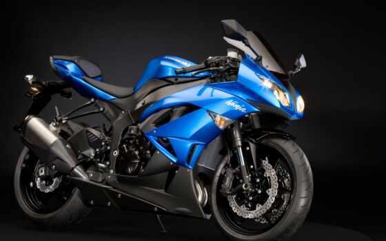 kawasaki, ninja, мотоциклы, blue,