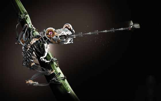 toad, fly, robot, рисунки, лягушка, креативные, hunting, язык, красивые,