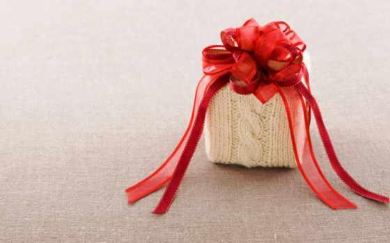 вязанный, дар, box, ткань, бант, tape, red