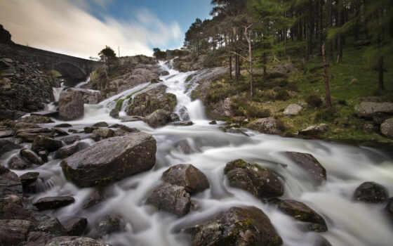 водопады, реки, satiscan, скалы,