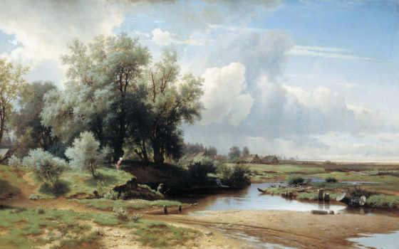 художников, пейзажи -, русских