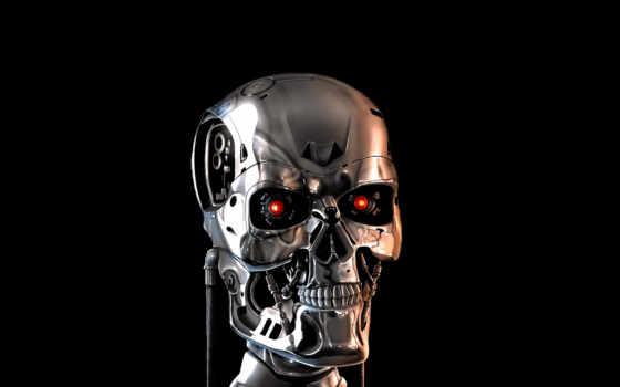 терминатор, robot, череп