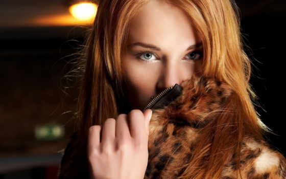 рыжая, девушка, взгляд Фон № 82203 разрешение 2344x1568