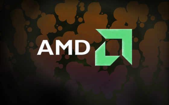 amd лого на тёмном пятнистом фоне