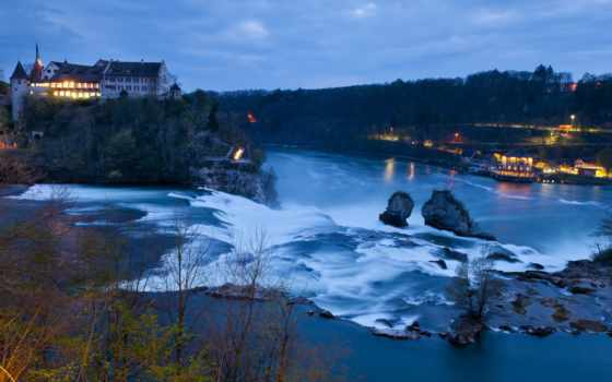 rhine, falls, швейцария, swiss, schaffhausen, водопад,