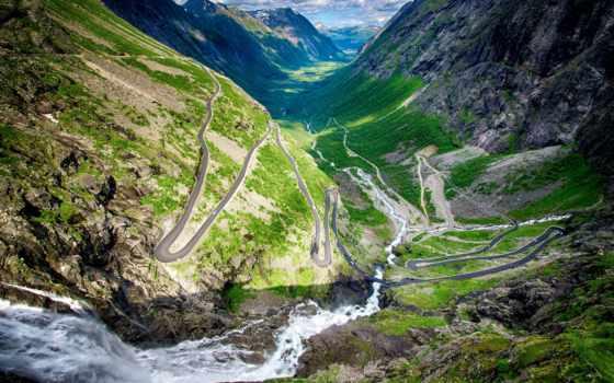 trollstigen, trolley, norwegian, норвегия, лестница, вестланн, дорога, самые,
