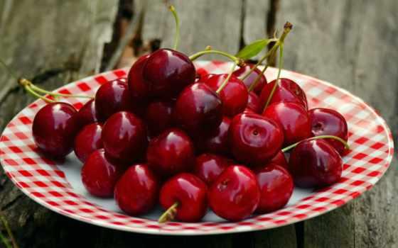 cherry, ягоды, еда, табличка, you, тарелке, плод, есть,