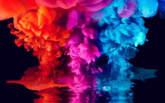 colorful, ultra, дым, color, планшетный, abstract, widescreen, краска